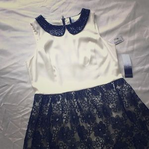 NWT Kensie dress with sequin collar. Size Large